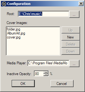 Random album chooser configuration dialog