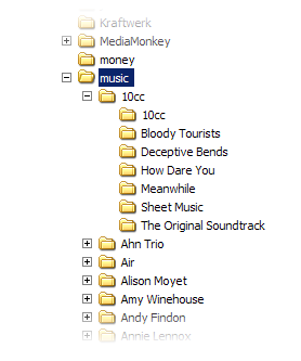 How I've got my music organised